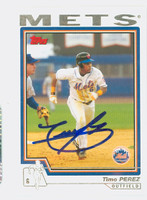 Timo Perez AUTOGRAPH 2004 Topps Mets   [SKU:PereT12953_T04BB]