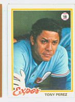 1978 Topps Baseball 15 Tony Perez Montreal Expos Excellent to Mint