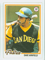 1978 Topps Baseball 530 Dave Winfield San Diego Padres Excellent