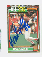 Wade Boggs AUTOGRAPH 1992 Topps All-Star Red Sox   [SKU:BoggW6082_T92BBax]