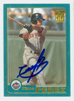 Timo Perez AUTOGRAPH 2001 Topps Mets 