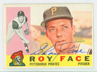 Roy Face AUTOGRAPH 1960 Topps #20 Pirates CARD IS VG/EX, CLEAN SIG  [SKU:FaceR1218_T60BBL2]