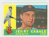 Jerry Casale AUTOGRAPH 1960 Topps #38 Red Sox CARD IS VG/EX, CLEAN SIG  [SKU:CasaJ2515_T60BBL1]