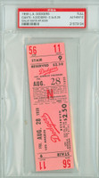 1959 Los Angeles Dodgers FULL TICKET vs San Francisco Giants Willie Mays HR #239 - August 28, 1959 PSA/DNA Authentic Slabbed