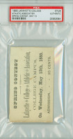 1885 Lafayette College Football Ticket SPRING CONTEST - May 13, 1885 SCARCE PSA/DNA Authentic