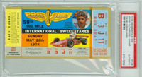 1974 Indianapolis 500 Ticket Stub - Johnny Rutherford May 26, 1974 PSA/DNA Authentic