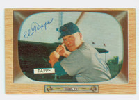 Elvin Tappe AUTOGRAPH d.98 1955 Bowman #51 Reds CARD IS CLEAN EX  [SKU:TappE2969_BW55BBcpl]