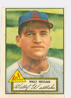 Wally Westlake AUTOGRAPH 1952 Topps #38 Cardinals RED BACK CARD IS CLEAN VG/EX  [SKU:WestW1913_T52BBcpl]