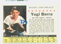 Yogi Berra AUTOGRAPH d.15 1961 Post #1 Yankees COMP CARD IS CLEAN EX