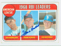 Frank Howard AUTOGRAPH 1969 Topps AL RBI Leaders #3 Senators CARD IS CLEAN VG/EX