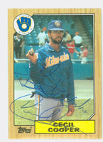 Cecil Cooper AUTOGRAPH 1987 Topps #10 Brewers PERS