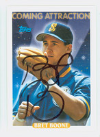 Bret Boone AUTOGRAPH 1993 Topps Coming Attraction Mariners   [SKU:BoonB10949_T93BBNx]