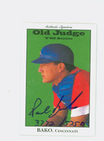 Paul Bako AUTOGRAPH 1995 Signature T-95 Old Judge Design Autograph Issue Reds CERTIFIED 