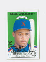 Butch Huskey AUTOGRAPH 1996 Signature T-96 Old Judge Design Autograph Issue Mets CERTIFIED 