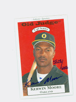 Kerwin Moore AUTOGRAPH 1996 Signature T-96 Old Judge Design Autograph Issue Athletics CERTIFIED 