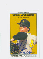 Mike Zimmerman AUTOGRAPH 1995 Signature T-95 Old Judge Design Autograph Issue Pirates CERTIFIED 