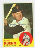 Harvey Kuenn AUTOGRAPH d.88 1963 Topps #30 Giants CARD IS VG/EX; AUTO CLEAN
