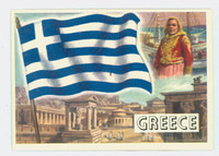 1956 Flags of the World 13 Greece Excellent to Mint