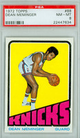 1972 Topps Basketball 88 Dean Meminger ROOKIE