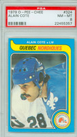 1979-80 OPC Hockey Alain Cote Quebec Nordiques PSA 8 Near Mint to Mint
