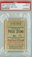 1930 Yale Bulldogs Ticket Stub vs Army Black Knights  - October 25, 1930 PSA/DNA Authentic