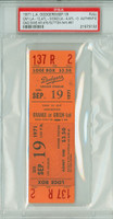 1971 Los Angeles Dodgers Full Ticket vs Atlanta Braves Don Sutton Win #81 Dodgers DH Sweep  - September 19, 1971 PSA/DNA Authentic