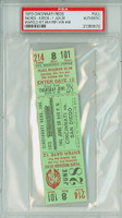 1973 Cincinnati Reds Full Ticket vs San Diego Padres Dave Winfield Hit #8 Clay Kirby Win #48  - June 28, 1973 PSA/DNA Authentic