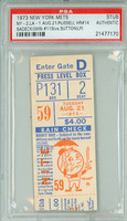 1973 New York Mets Ticket Stub vs Los Angeles Dodgers Bill Russell HR #14 - August 21, 1973 [Y73_Mets0821S_pa_2] PSA/DNA Authentic