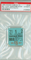 1956 Chicago Cubs Ticket Stub vs Brooklyn Dodgers Carl Furillo 2 HR #150-#151 Don Newcombe Win #97  - July 15, 1956 PSA/DNA Authentic