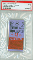 1958 Chicago Cubs Ticket Stub vs Pittsburgh Pirates Ernie Banks HR #177 Roberto Clemente 4 Hits  - August 23, 1958 [Y58_Cubs0823S_p5_3] Excellent