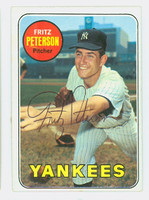 Fritz Peterson AUTOGRAPH 1969 Topps #46 Yankees CARD IS CLEAN EX