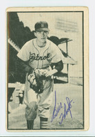 Biily Hoeft AUTOGRAPH d.10 1953 Bowman Black #18 Tigers CARD IS F/P; CREASES  [SKU:HoefB66_BW53BWk]