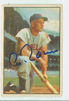 Al Rosen AUTOGRAPH d.15 1953 Bowman Color #8 Indians CARD IS F/P; CREASES