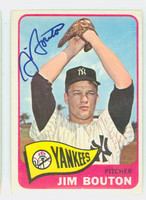 Jim Bouton AUTOGRAPH 1965 Topps #30 Yankees CARD IS CLEAN EX