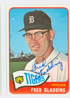 Fred Gladding AUTOGRAPH d.15 1965 Topps #37 Tigers CARD IS CLEAN EX/MT