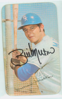 Bill Melton AUTOGRAPH 1971 Topps Supers #47 White Sox CARD IS SHARP EXMT  [SKU:MeltB1595_T71SUPk]