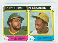 1974 Topps Baseball 202 Home Run Leaders Very Good to Excellent