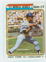 1974 Topps Baseball 473 World Series 2 Very Good to Excellent