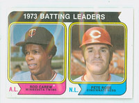 1974 Topps Baseball 201 Batting Leaders Excellent to Excellent Plus