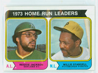 1974 Topps Baseball 202 Home Run Leaders Excellent to Excellent Plus