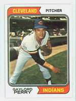 1974 Topps Baseball 35 Gaylord Perry Cleveland Indians Very Good to Excellent