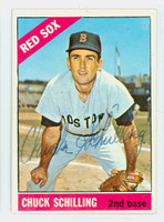 Chuck Schilling AUTOGRAPH 1966 Topps #6 Red Sox CARD IS CLEAN EX  [SKU:SchiC745_T66BBC]
