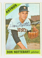 Don Nottebart AUTOGRAPH d.07 1966 Topps #21 Astros CARD IS G/VG, SL CREASE, AUTO CLEAN  [SKU:NottD1270_T66BBC]