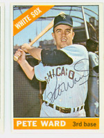Pete Ward AUTOGRAPH 1966 Topps #25 White Sox CARD IS CLEAN EX  [SKU:WardP1712_T66BBC]