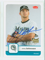 Josh Johnson AUTOGRAPH 2006 Fleer Marlins 