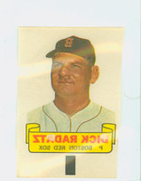 1966 Topps Rub Offs 76 Dick Radatz Boston Red Sox Very Good to Excellent