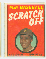 1970 Topps Scratch Off Baseball Nate Colbert San Diego Padres Very Good to Excellent