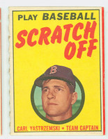 1971 Topps Scratch Off Baseball Carl Yastrzemski Boston Red Sox Excellent to Mint