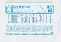 Bob Grich AUTOGRAPH 1970s Kelloggs Back Signed 1977 Angels   [SKU:GricB1183_KL00BBBS]