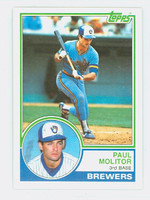 1983 Topps Baseball 630 Paul Molitor Milwaukee Brewers Near-Mint to Mint